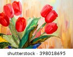 hand drawn oil painting.... | Shutterstock . vector #398018695