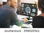 technology global web media... | Shutterstock . vector #398020561