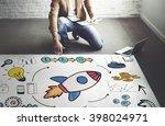 start up business launch rocket ...   Shutterstock . vector #398024971