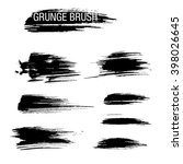 vector set of grunge brush... | Shutterstock .eps vector #398026645