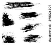 vector set of grunge brush... | Shutterstock .eps vector #398026804