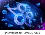 technology background. abstract ... | Shutterstock .eps vector #398027311