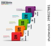 infographic business stair... | Shutterstock .eps vector #398027881
