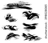 vector set of grunge brush... | Shutterstock .eps vector #398028085