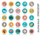 flat conceptual icons set of