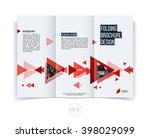 abstract brochure flyer design  ... | Shutterstock .eps vector #398029099