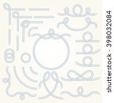 rope nautical vector borders... | Shutterstock .eps vector #398032084