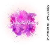 vector watercolor splash.... | Shutterstock .eps vector #398035009