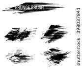 vector set of grunge brush... | Shutterstock .eps vector #398037841
