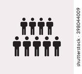 people   icon  vector... | Shutterstock .eps vector #398044009