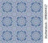 seamless paisley pattern. hand... | Shutterstock . vector #398044417