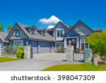 big custom made luxury house...   Shutterstock . vector #398047309