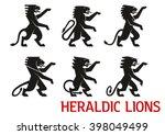 Medieval Heraldic Lion Symbols...