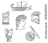 historical and cultural symbols ... | Shutterstock .eps vector #398049505