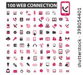 web connection icons  | Shutterstock .eps vector #398054401