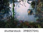 3d illustration of tropical... | Shutterstock . vector #398057041