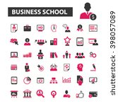 business school icons  | Shutterstock .eps vector #398057089