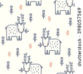 seamless pattern with cute... | Shutterstock .eps vector #398057569
