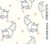 seamless pattern with cute... | Shutterstock .eps vector #398057575