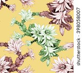 seamless floral pattern on... | Shutterstock . vector #398058007