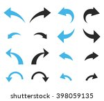 undo and redo glyph icon set.... | Shutterstock . vector #398059135