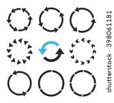 rotation direction vector icon... | Shutterstock .eps vector #398061181
