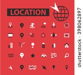 location icons  | Shutterstock .eps vector #398062897