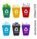 recycle garbage bins....   Shutterstock .eps vector #398067259