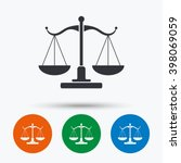 scales of justice icon. court... | Shutterstock .eps vector #398069059