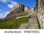 A View Of Edinburgh Castle And...