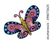 decorative butterfly...   Shutterstock .eps vector #398073625