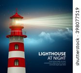 realistic lighthouse  in the... | Shutterstock .eps vector #398077519