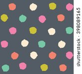 Cute Polka Dots Vector Pattern...