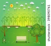 hello park. natural landscape... | Shutterstock .eps vector #398090761