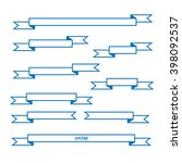 straight  vector ribbons ... | Shutterstock .eps vector #398092537