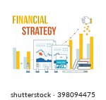 concepts for business analysis... | Shutterstock .eps vector #398094475