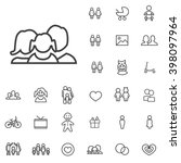 linear family icons set....