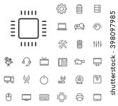 linear technology icons set.... | Shutterstock .eps vector #398097985