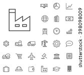 linear economics icons set....