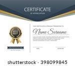 vector certificate template. | Shutterstock .eps vector #398099845