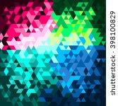 triangle diamond glitter... | Shutterstock .eps vector #398100829