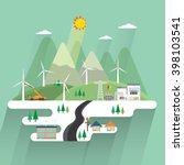 wind energy | Shutterstock .eps vector #398103541
