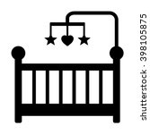 baby crib or infant bed with...