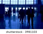 people silhouettes at airport... | Shutterstock . vector #3981103
