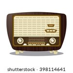 retro radio design  vector... | Shutterstock .eps vector #398114641