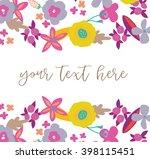 cute vector flowers. flower... | Shutterstock .eps vector #398115451