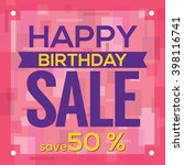 happy birthday sale banner... | Shutterstock .eps vector #398116741
