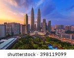 kuala lumpur  malaysia city... | Shutterstock . vector #398119099