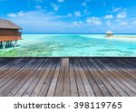 beach and beautiful tropical sea | Shutterstock . vector #398119765