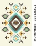ethnic pattern design. vector...   Shutterstock .eps vector #398126521